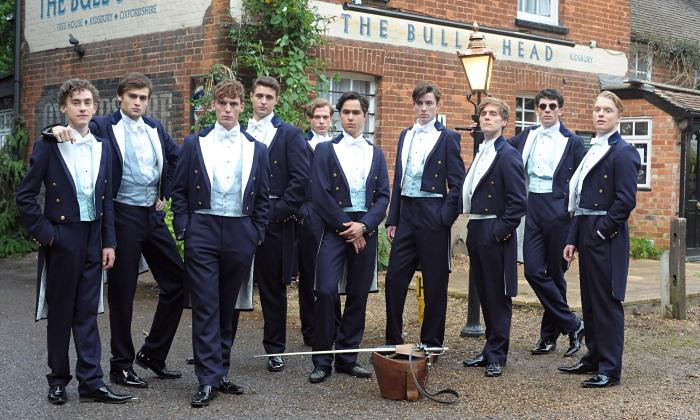 The Riot Club douglas booth sam claflin max irons